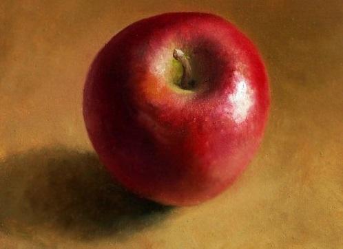 still_life_apple_red