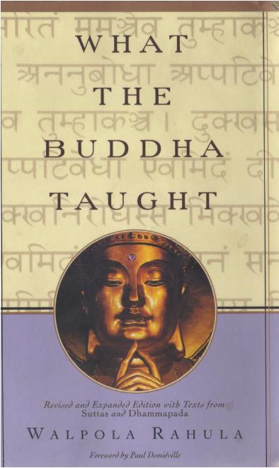 What Buddha Taught
